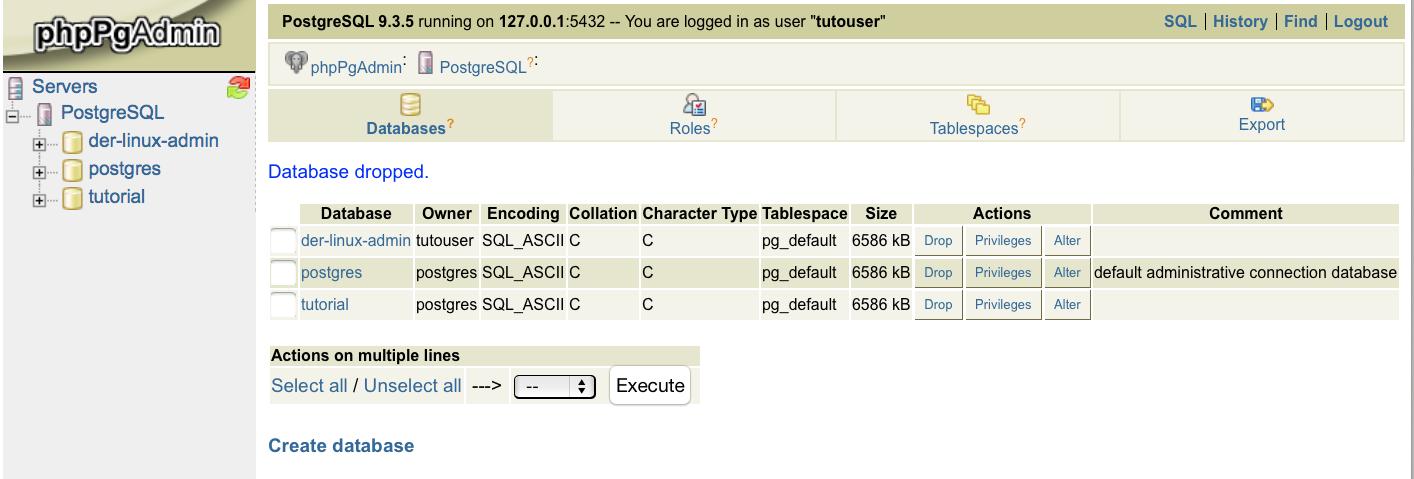 CentOS 7 - PostgreSQL mit phpPgAdmin - der-linux-admin de