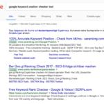 Google Keyword Ranking Check